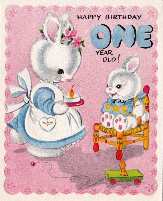 Vintage Four Year Old Greeting Card