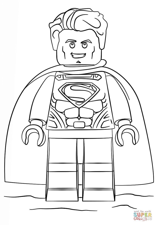 Lego Coloring Pages Superman Superhelden Malvorlagen Lego Superhelden Ausmalbilder