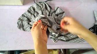 Como costurar elástico em calça ou saia com cós sem separá-lo. Aula 79 - YouTube