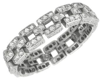 Art Deco 1.70ct Diamond Platinum Flexible Band