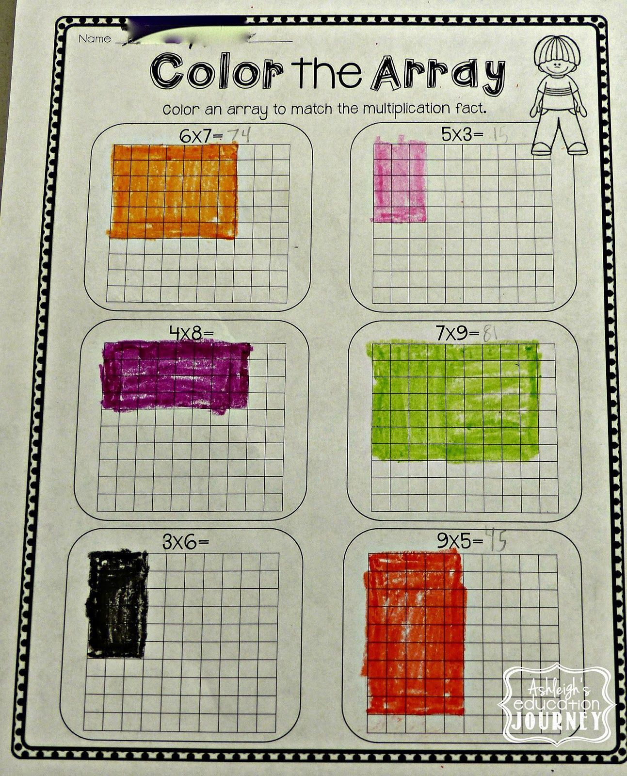 Multiplication Array Worksheet Idea