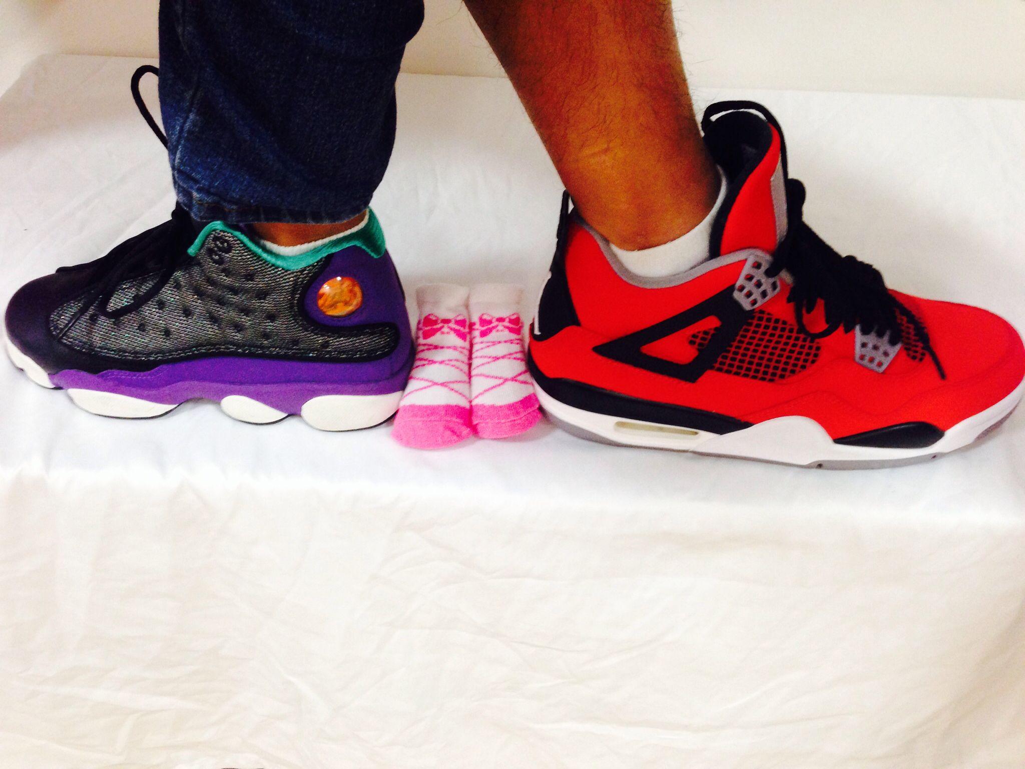 More Sneakerhead gender reveal! Using Jordan shoes and baby socks. It's a  girl!