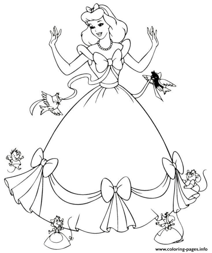Print Disney Princess Cute Coloring Pages Cinderella Coloring Pages Disney Princess Coloring Pages Princess Coloring Pages