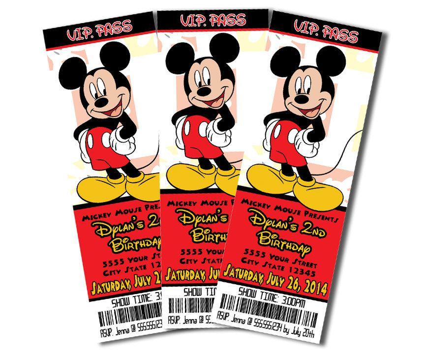 Pin En Invitaciones De Mickey Mouse