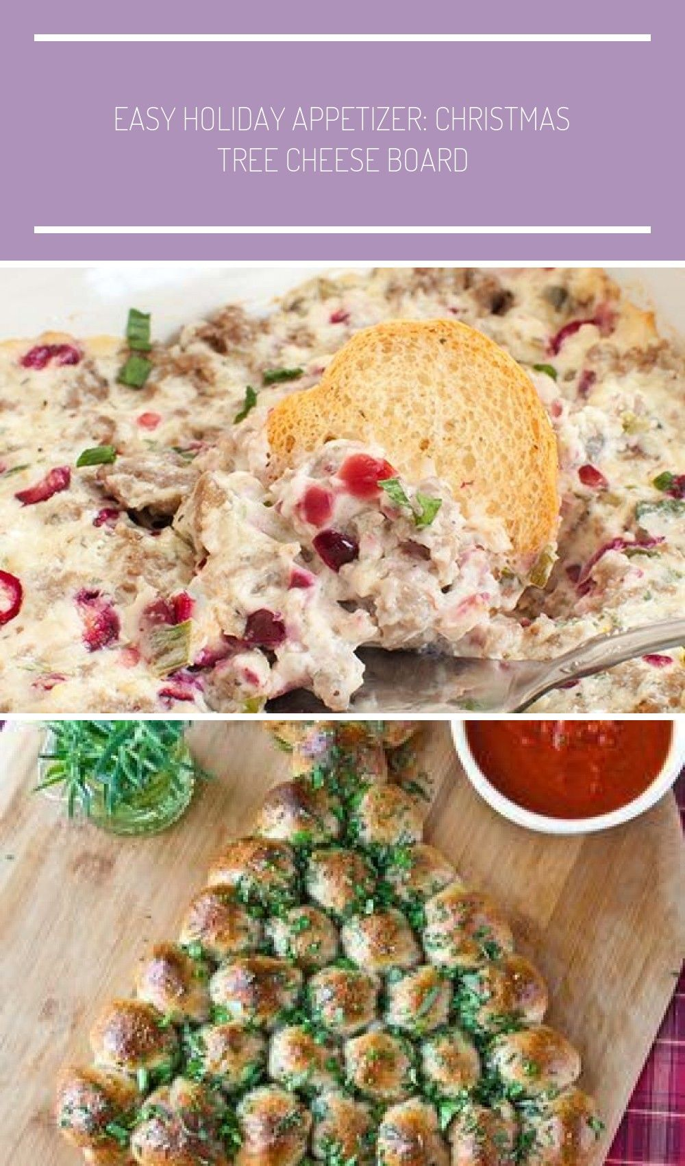 You'll LOVE this savory holiday appetizer! This easy Sausage Cranberry Cream Cheese Dip is cheesy,