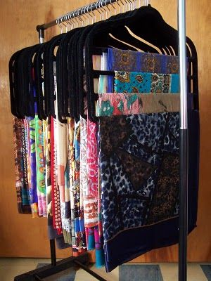 I also have a million scarves that need to be organized.