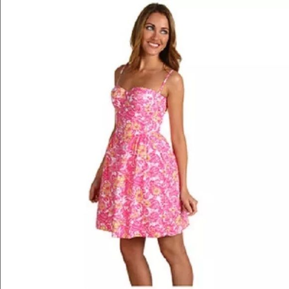 56559424b6272a Lilly Pulitzer Georgie dress, Chum bucket print Lilly Pulitzer dress with a  fitted bodice and