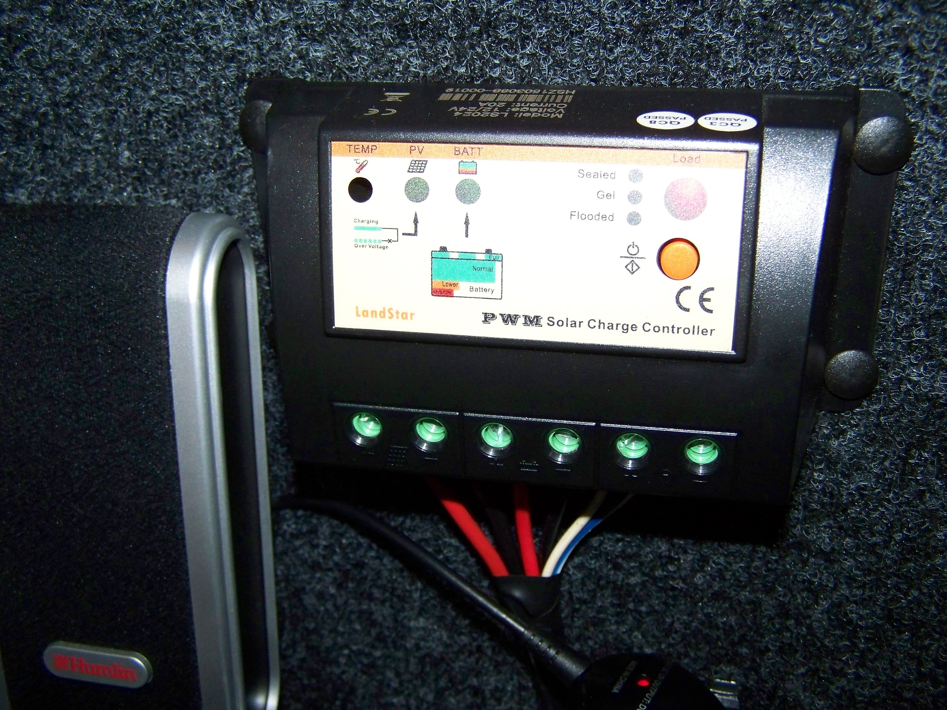 VW CADDY SOLAR CAMPER, This is the solar panel charge controller
