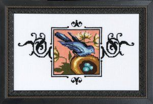 Blue Monarch Flycatcher is the title of this cross stitch pattern from Nora Corbett of Mirabilia Designs. You will need Mill Hill Beads 1601...