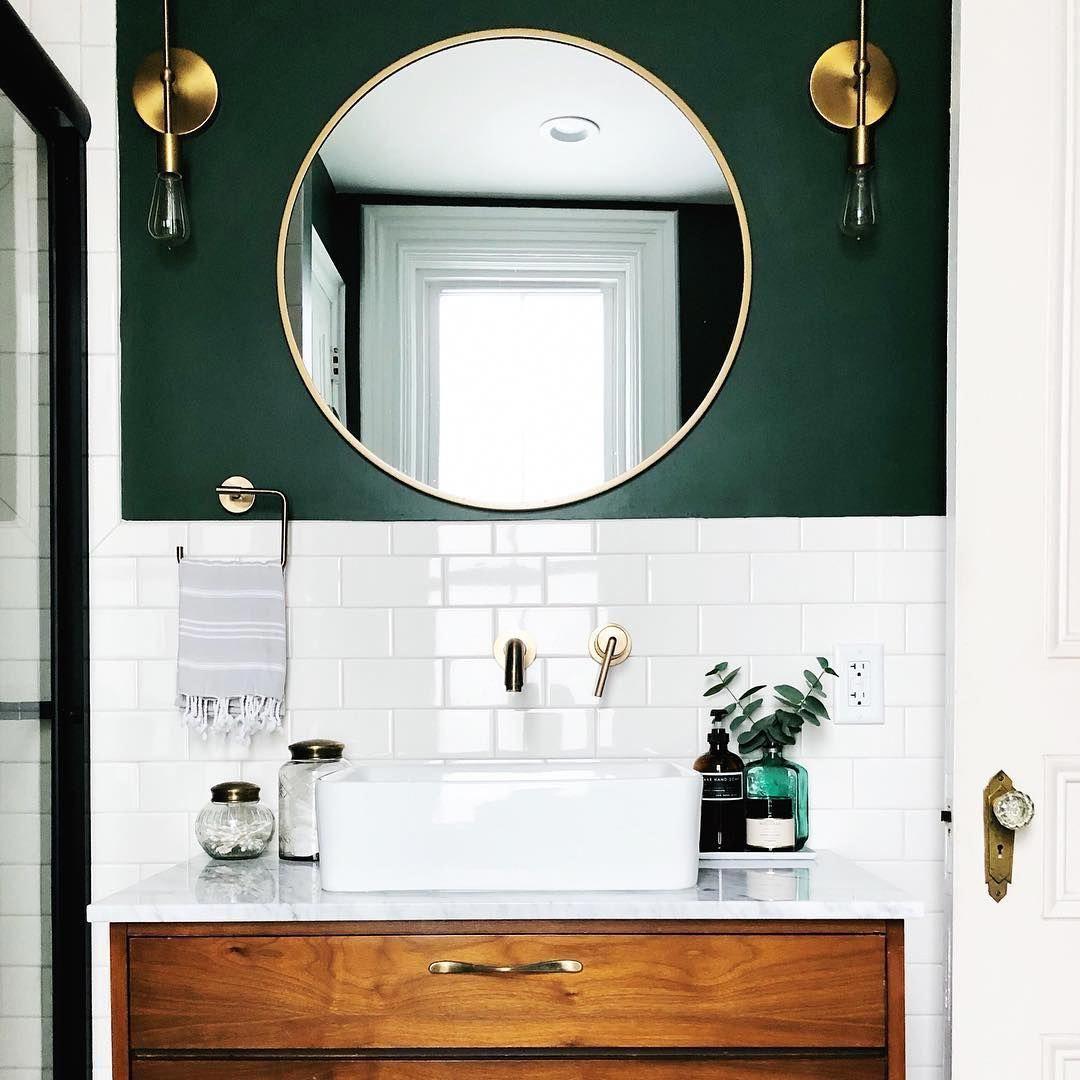 Bathroom Ideas Bathroom Vanity Bathroom Decor Bathroom Style Green Bathroom Bathroom Inspiration [ 1080 x 1080 Pixel ]