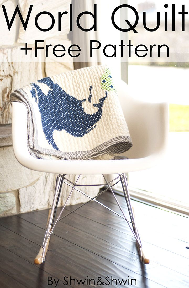 Free World Map Quilt Pattern