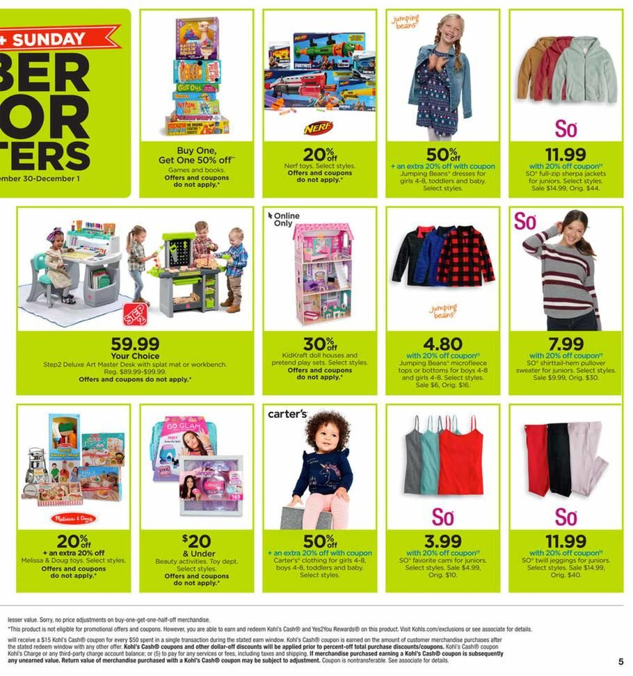 Kohls Cyber Monday Ad Scan, Deals and Sales 2019