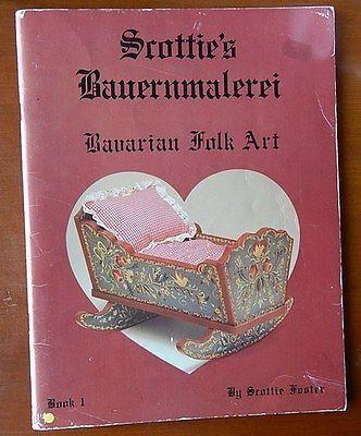Folk Art Book Scotties Bauernmalerei 1 Scottie Foster Bavarian Painting Book | eBay