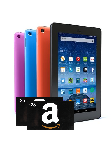 Image result for Amazon Tablet, Kindle, or $50 Gift Card
