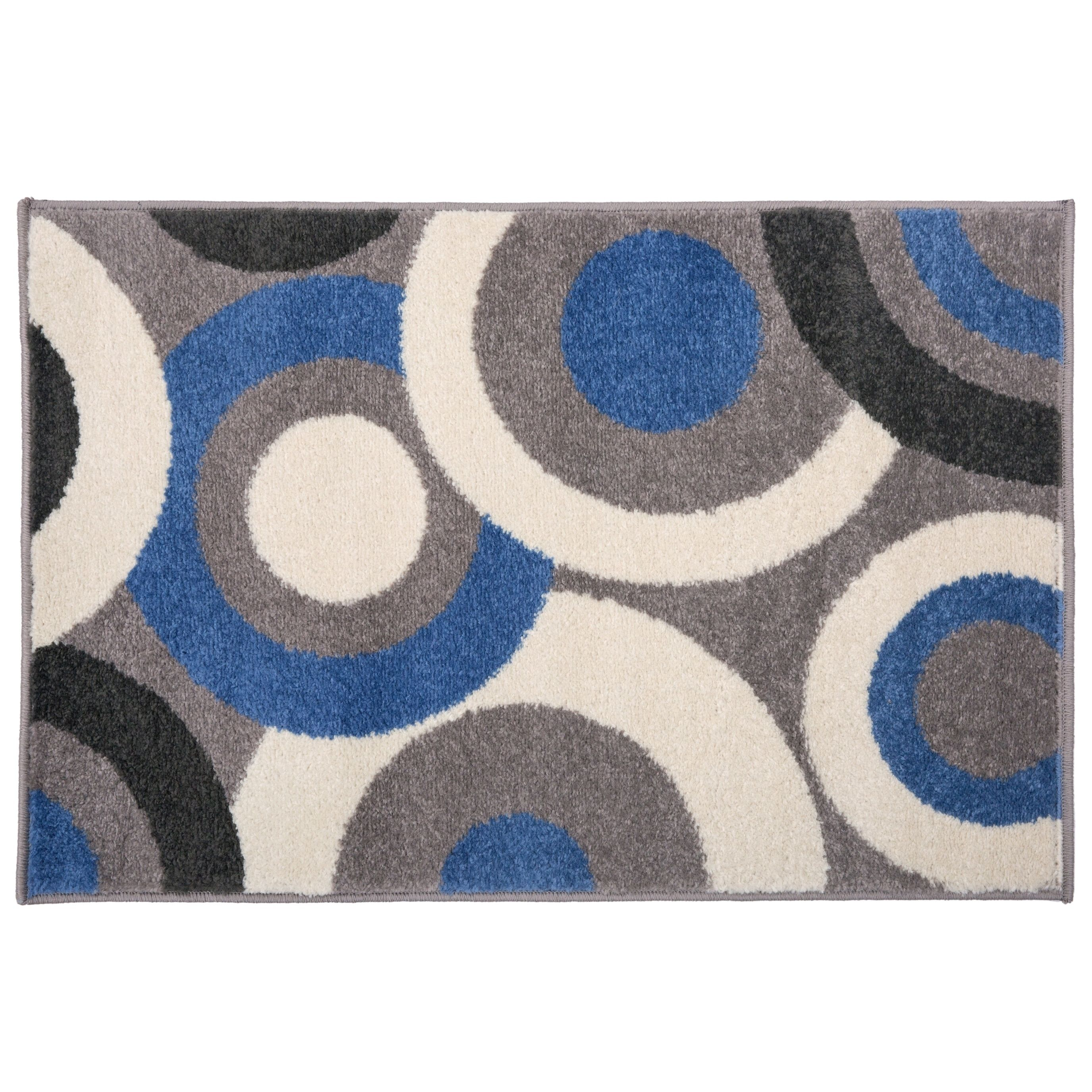 Contemporary Modern Circles Rug Blue 2 X 3 Osti Circle Rug Rug Gallery