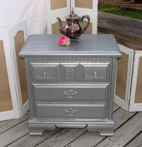 Metallic Night Stand Furniture Pinterest