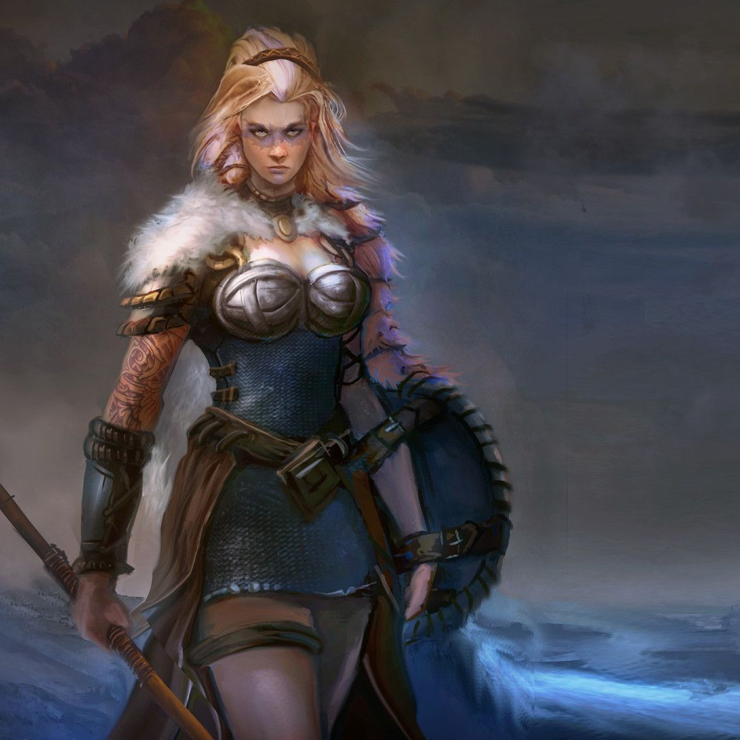 Shieldmaiden Matt Forsyth On Artstation At Https Www Artstation Com Artwork J4bln Fantasy Female Warrior Warrior Woman Shield Maiden