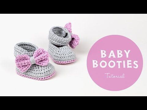 Croby Patterns | Free Pattern: Crochet Baby Booties Lavender Bow Tie ...