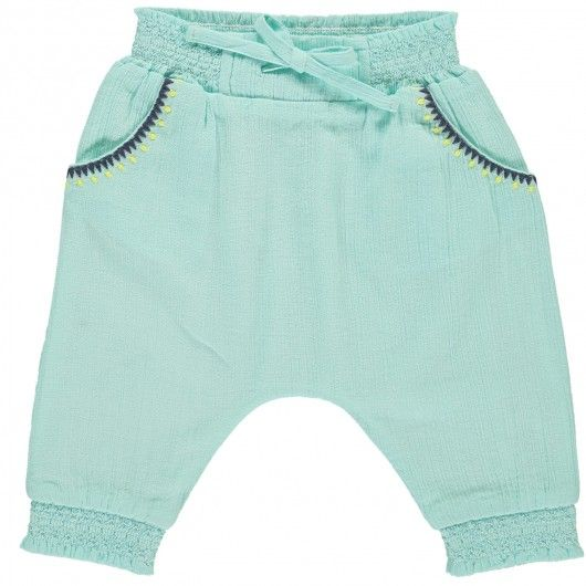 Pantalon sarouel bébé fille Bleu   Shopping BB ✘   Pinterest   Bb db1e54bfa81
