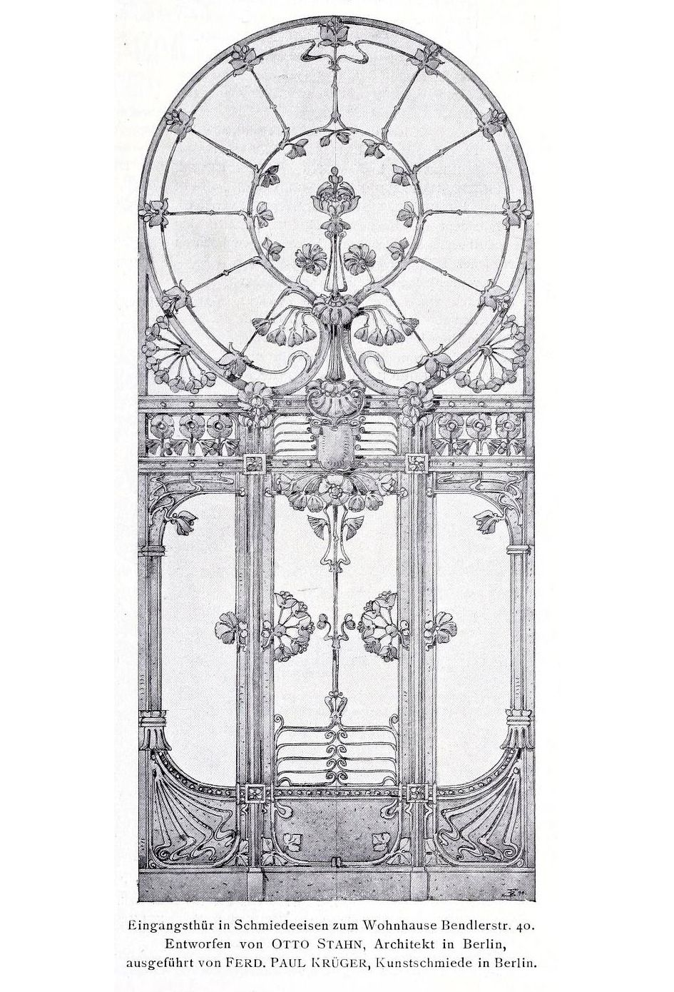 Design for the front door of a residential building, Berlin
