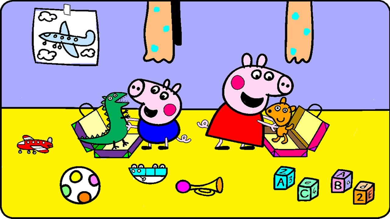 Peppa Pig Coloring Pages for Kids - Peppa Pig Coloring Games ...