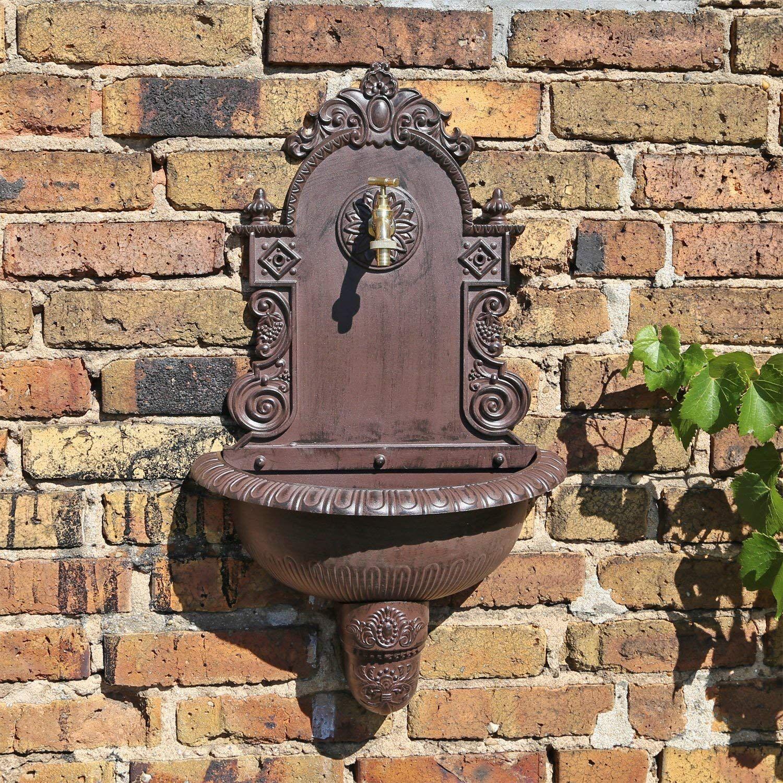 Clgarden Wandbrunnen Wb1 Design Gartenbrunnen Wasserzapfstelle Mit Waschbecken Amazon De Garten Fuentes Pequenas Fuentes Para Jardin Fuentes De Agua