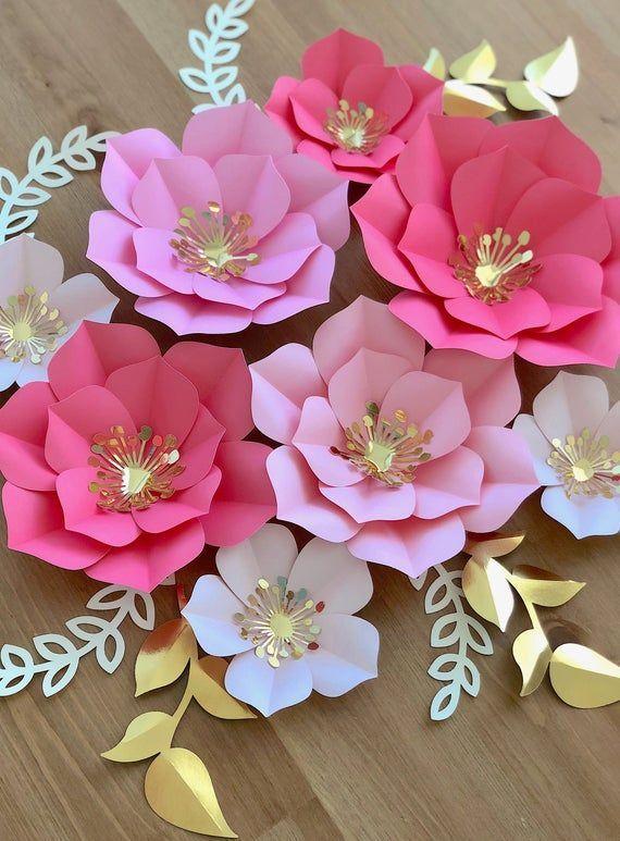 Blumen zum Muttertag basteln dekoration geschenk seidenpapie… – Flower Ideas #largepaperflowers