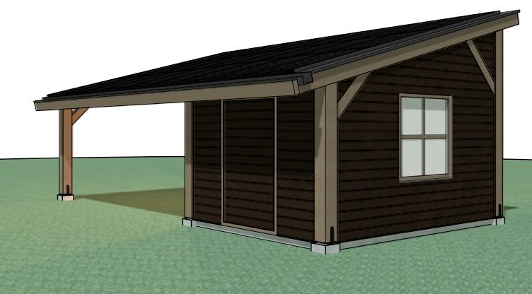 Afbeeldingsresultaat voor houten carport met zonnepanelen ...