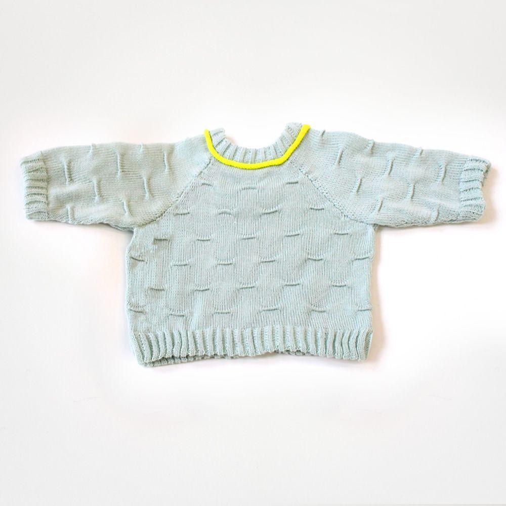 SS14 babyDEGEN seafoam ridge sweater