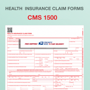 Cms 1500 Health Insurance Paper Claim Forms 02 12 Free Priority