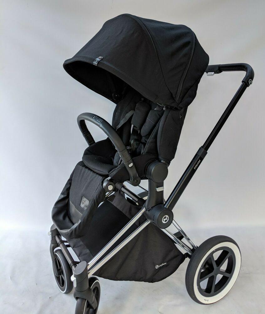 CYBEX Priam Stroller chrome Frame and Platinum Black Seat