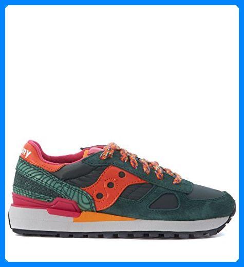Black Green Orange Saucony Shadow Limited Edition Sneaker
