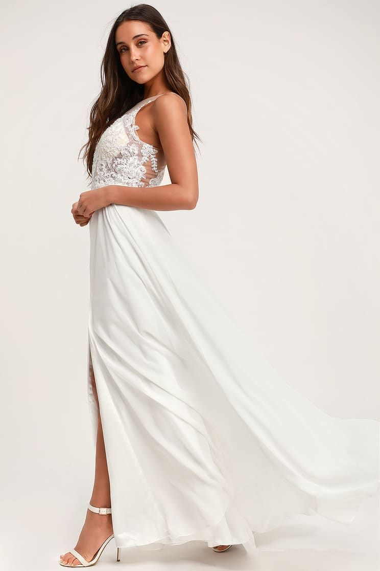 4b63ba32d0dc82 White Homecoming Dresses Lulus