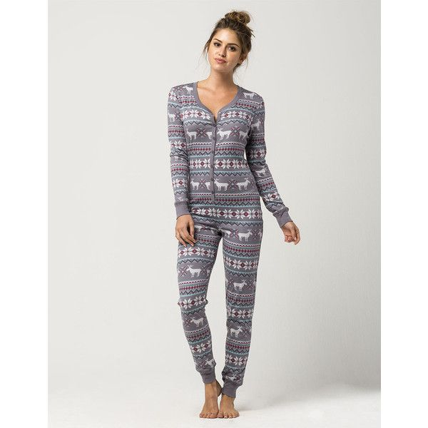 Cosmic Fair Isle Moose Womens Pj Onesie ($39) ❤ liked on Polyvore ...