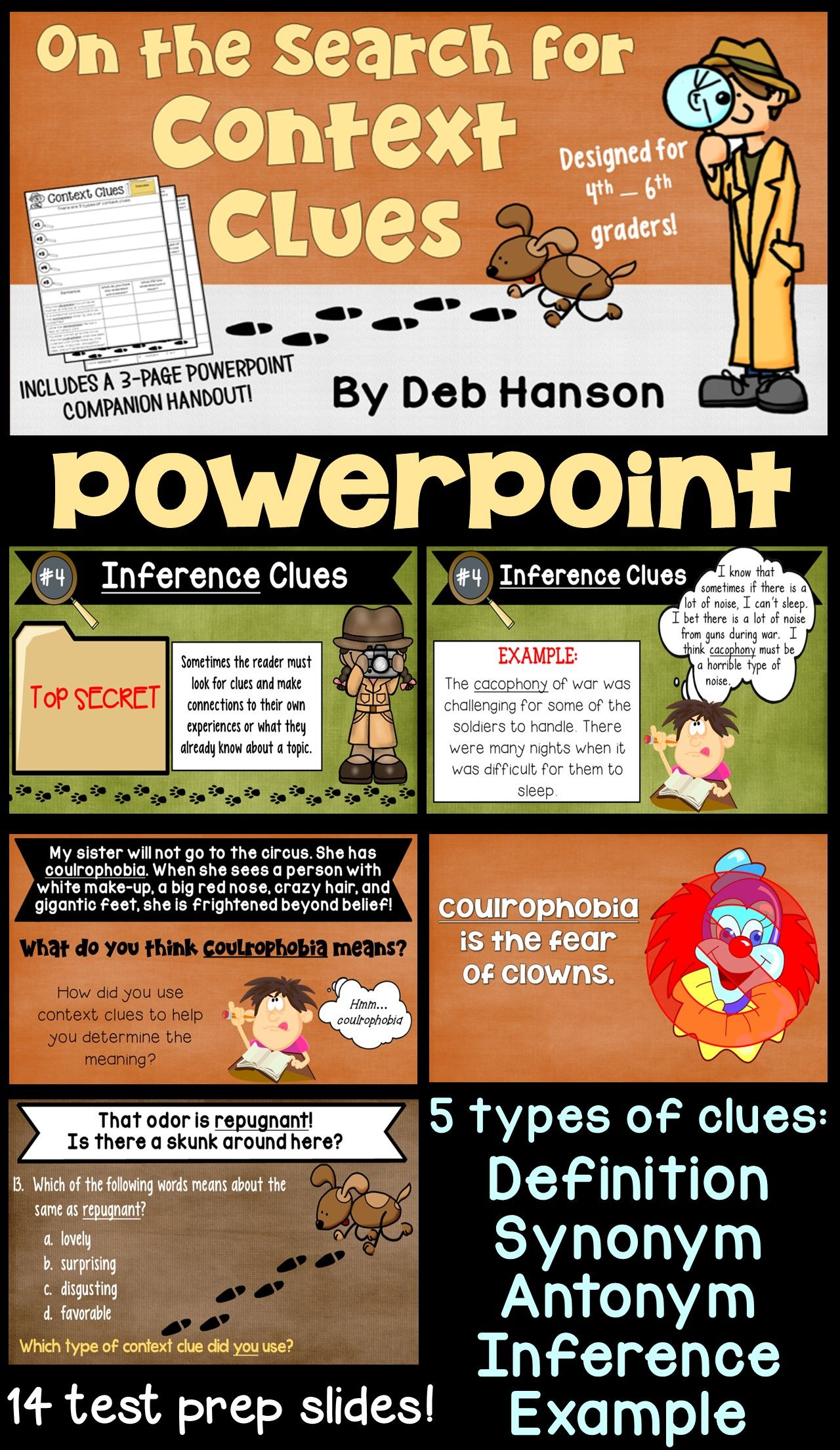 Context Clues Powerpoint 4th 5th And 6th Grade