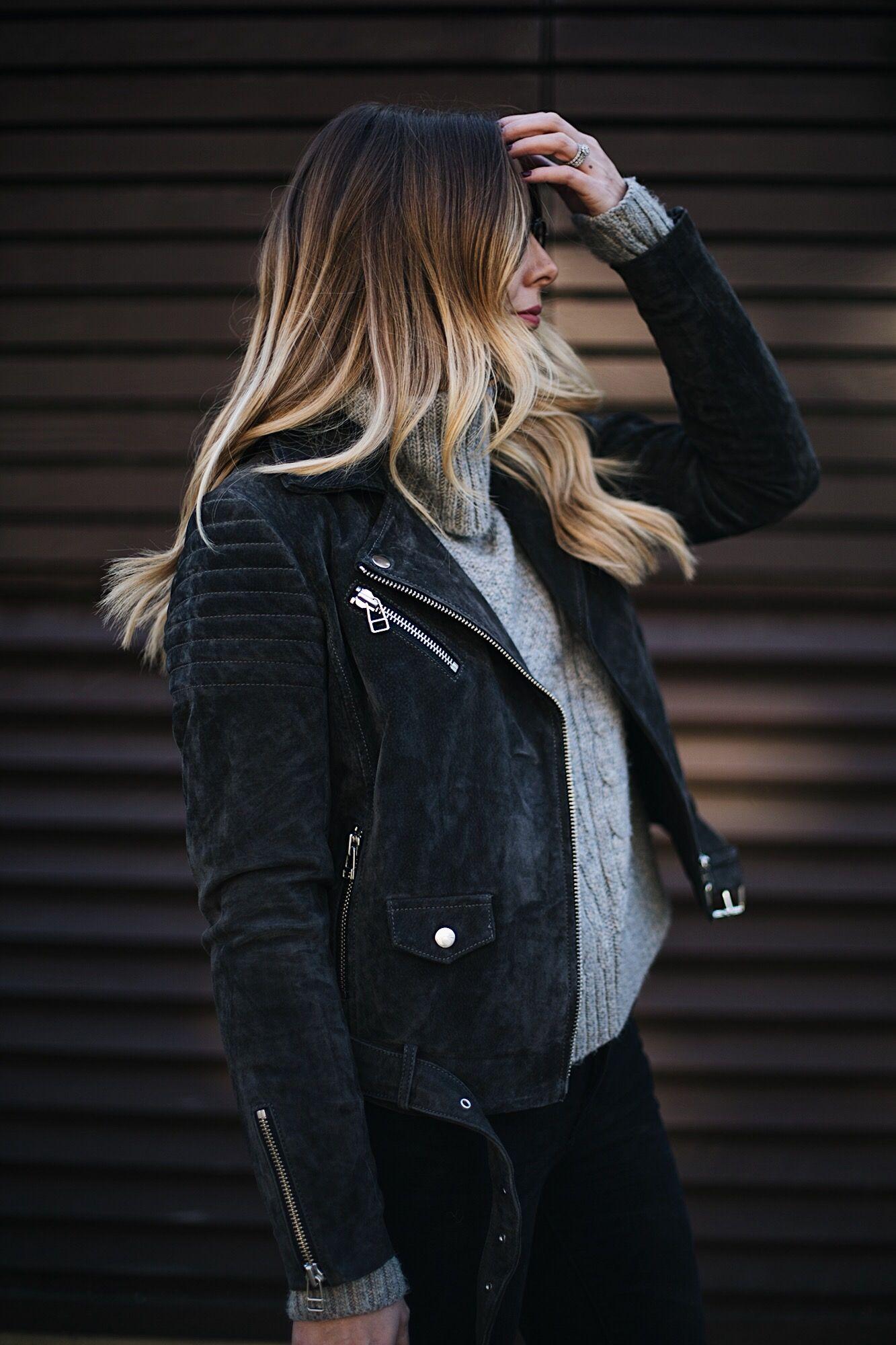 grey suede biker jacket  31aaf0679f