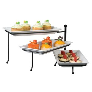 Peachy American Metalcraft Ttmel3 Ironworks Three Tier Foldable Beutiful Home Inspiration Cosmmahrainfo