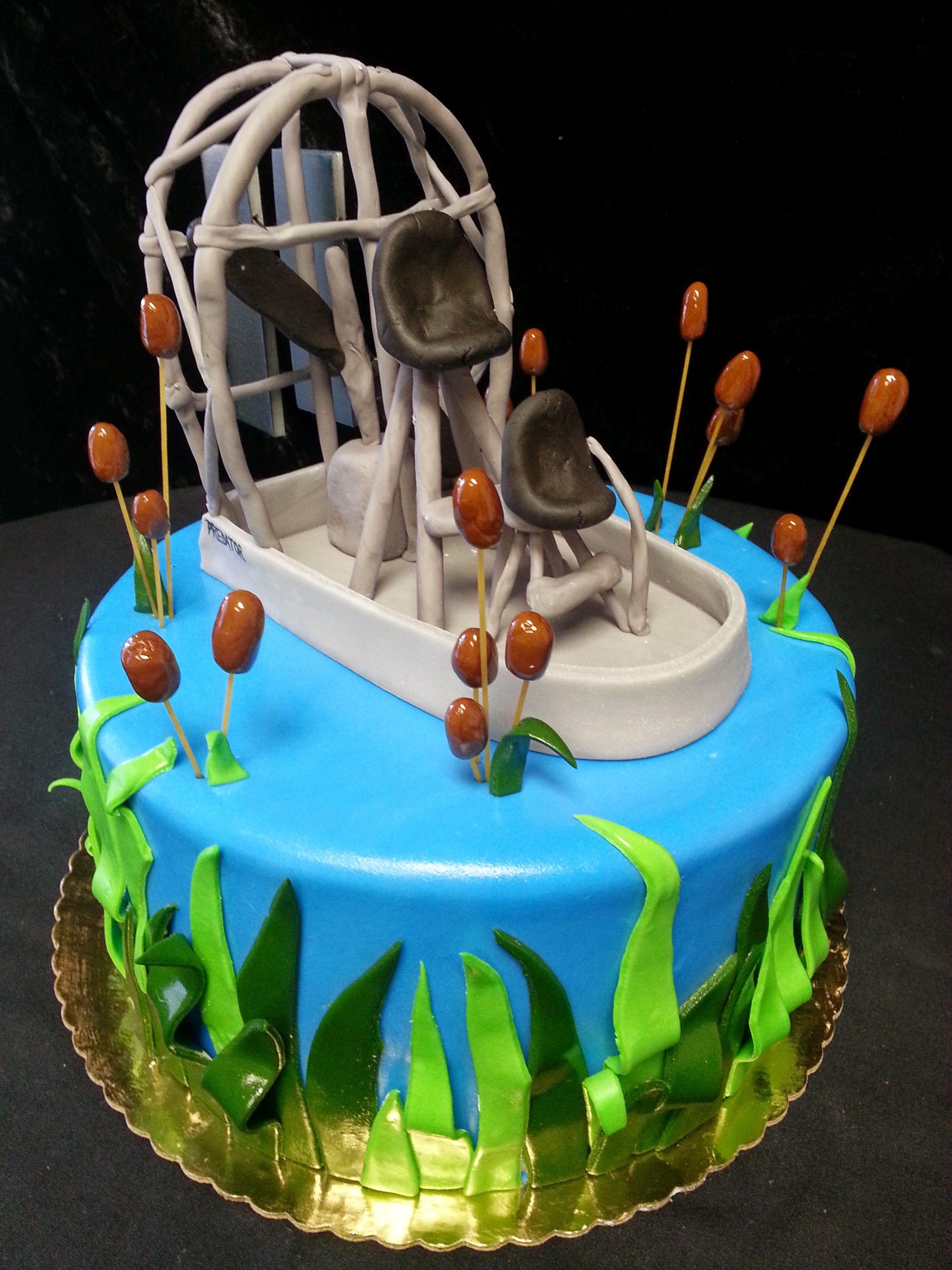 Cookie Jar Bakeshop I Custom Cakes I Grooms Cake I Airboat Grooms Cake I Everglades Themed Grooms Cake I Swamp Themed Grooms Cake