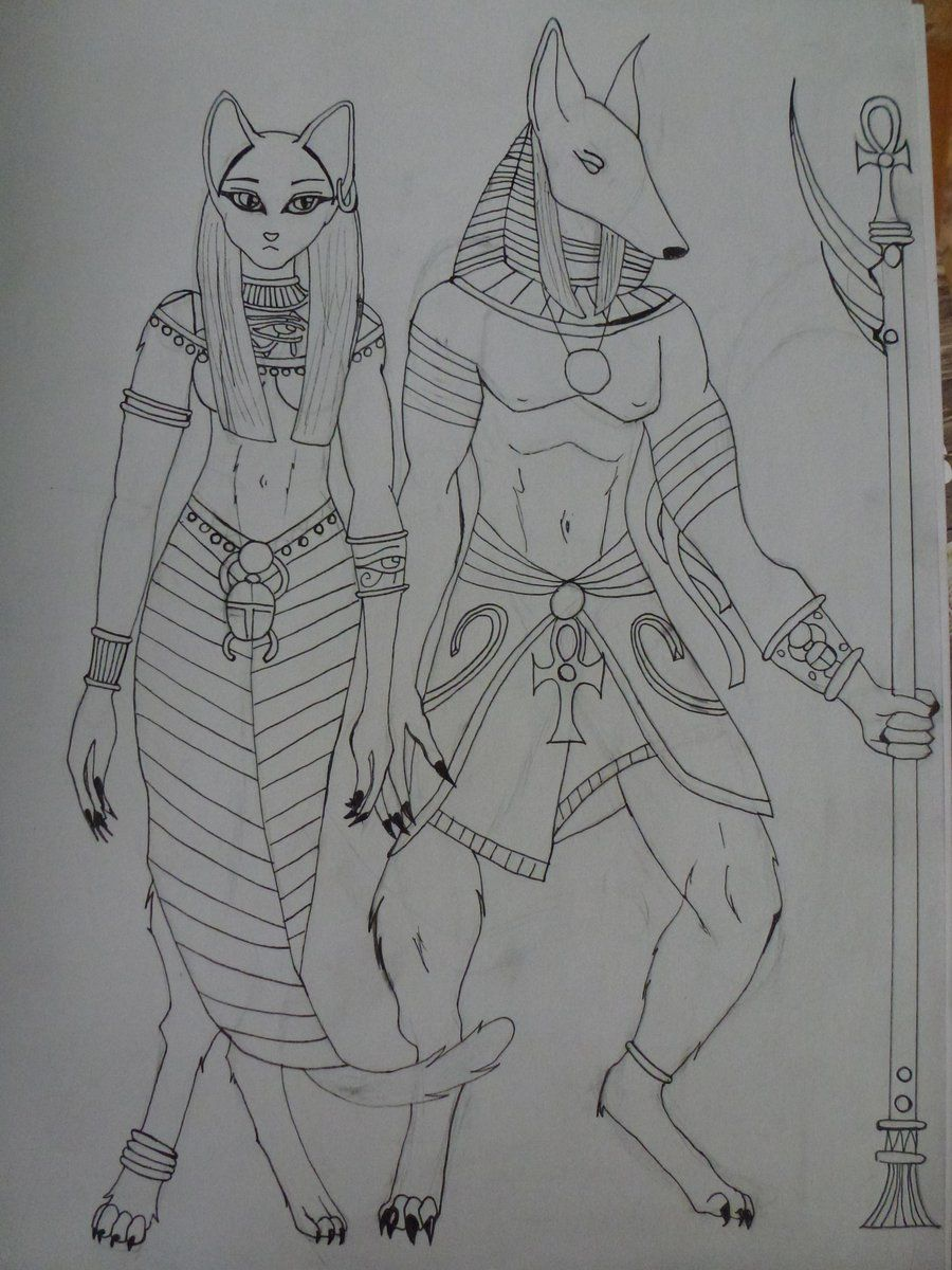 Bastet and Anubis by auracolor.deviantart.com on @deviantART