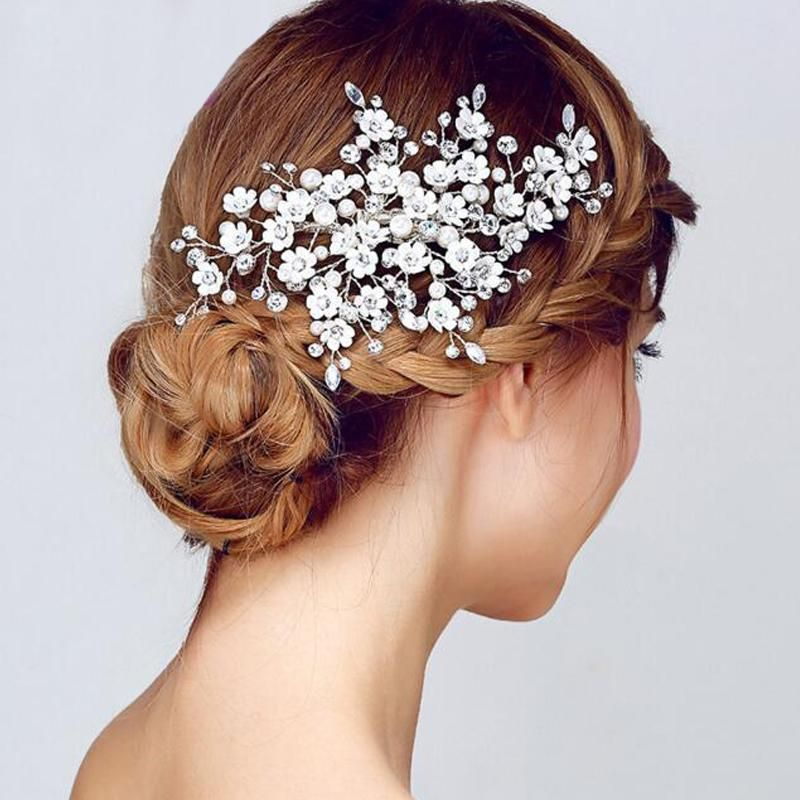 Hair Ornaments  Women Wedding Hair Band Tiara  Hair Clips Pearl  Headband