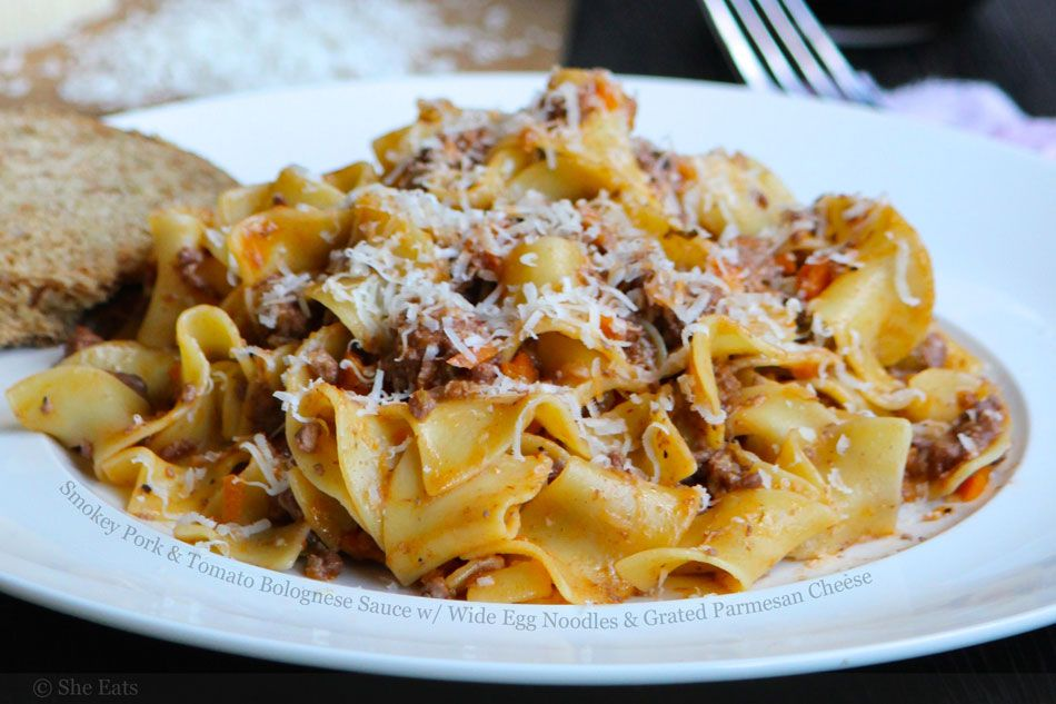 Italian Bolognese With Egg Noodles Recipe Eat Food Bolognese
