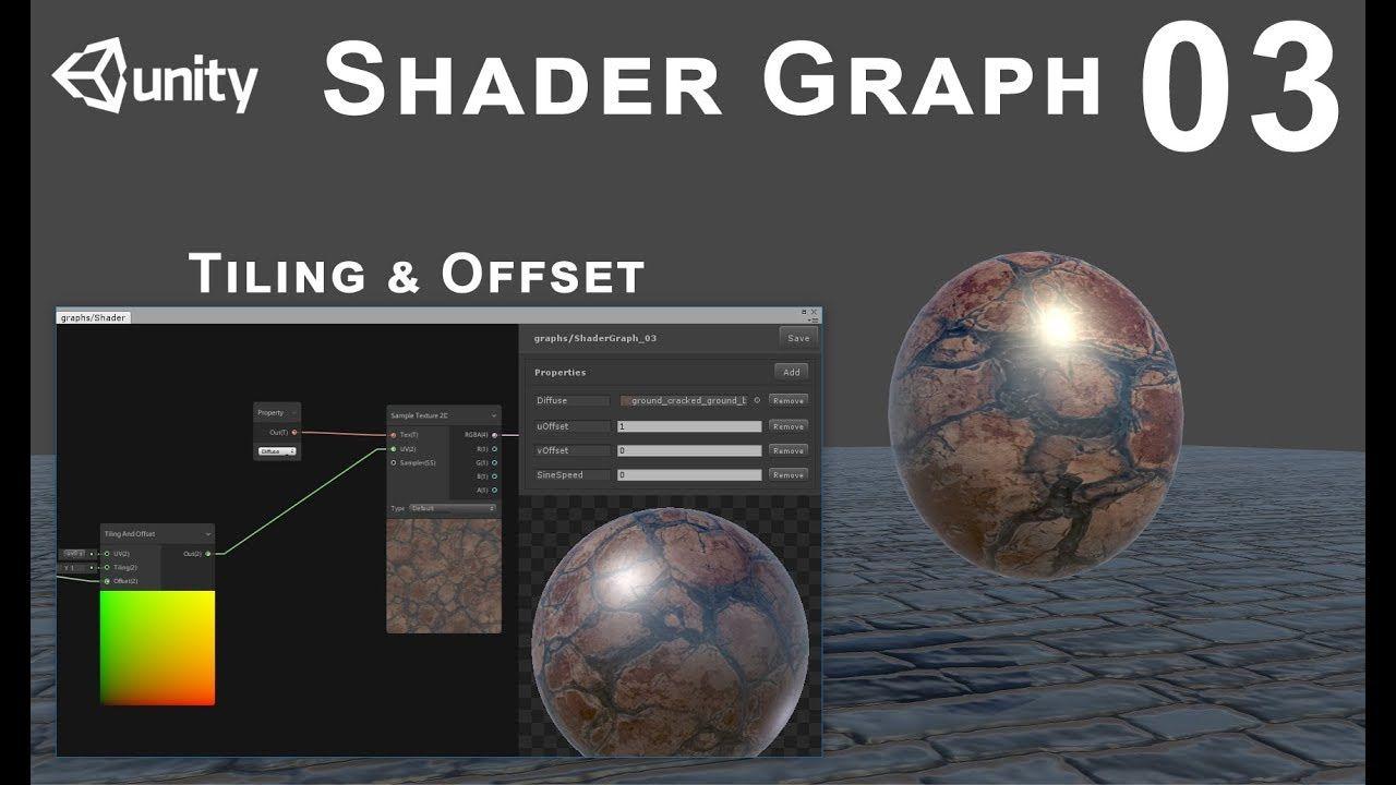 Unity 2018 Shader Graph / Editor - Tutorial 03: Tiling