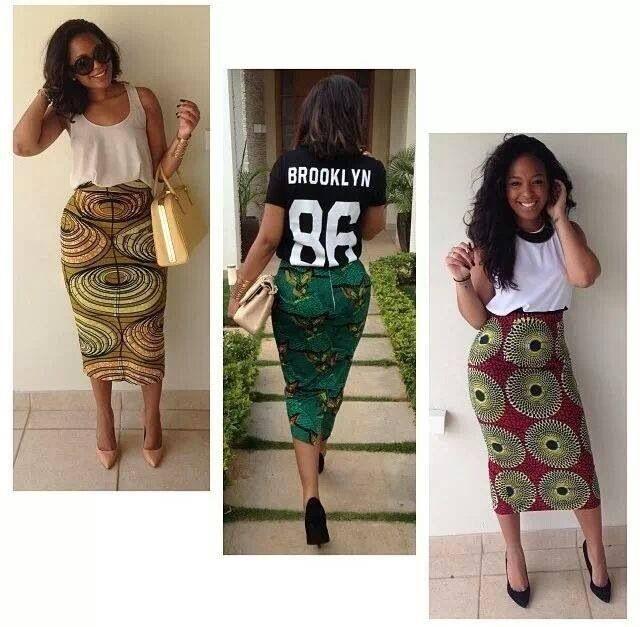 Jupe Haute En Wax Mode Africaine Mode Africaine Robe Jupe Africaine