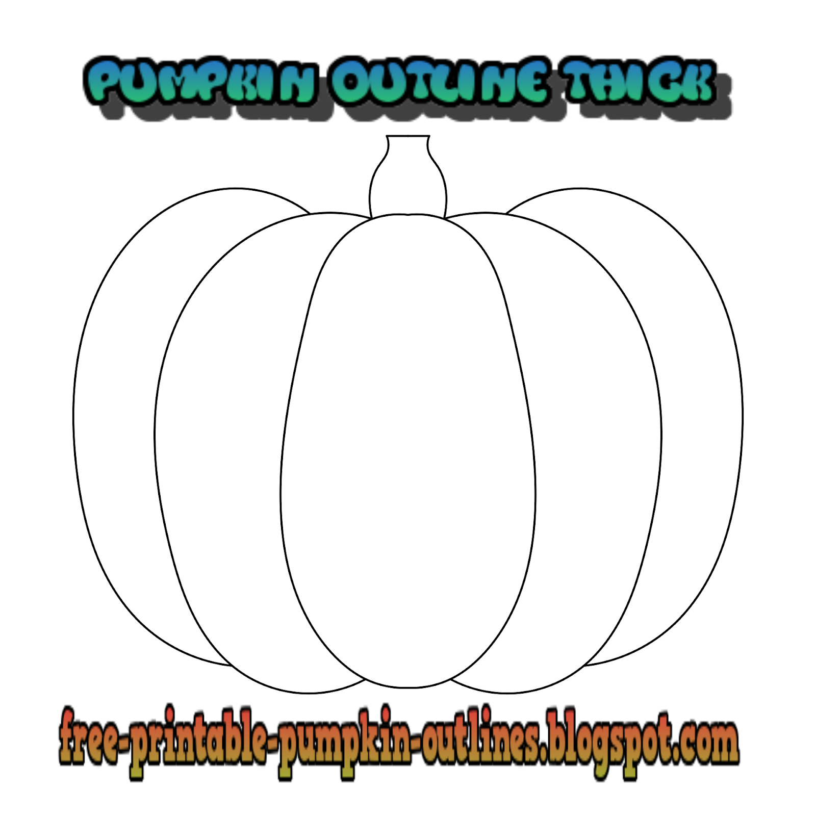 Pumpkin Outline Thick Simple Free Printable Pumpkin Outlines Pumpkin Outline Outline Pumpkin