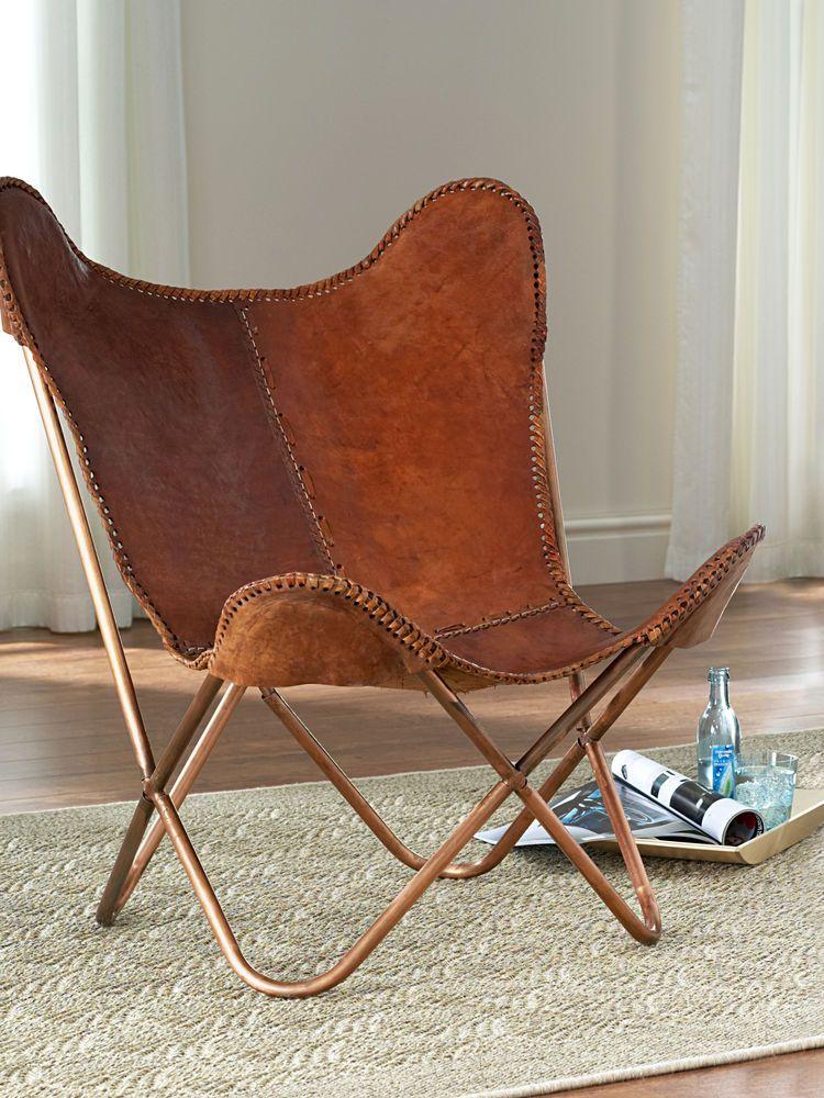 fauteuil africain meubles deco fauteuil de salon en peau cuir grossier vintage tendance