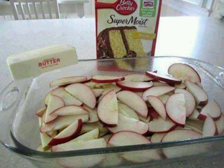 Recipe white cake mix apples
