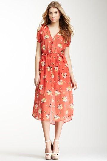 Lunaria Print Dress