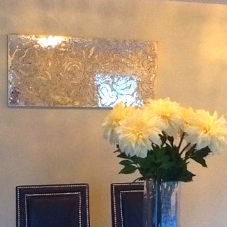 pier 1 mirrored damask panel wall decor this piece adds great shimmer and style to a boring. Black Bedroom Furniture Sets. Home Design Ideas