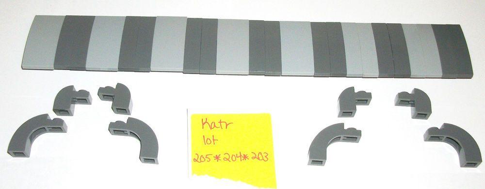 11 90 Lego Dark Light Blue Stone Gray 6091 Arch Roof Tile 11153 92903 93606 10227 9515 Lego Grey Stone