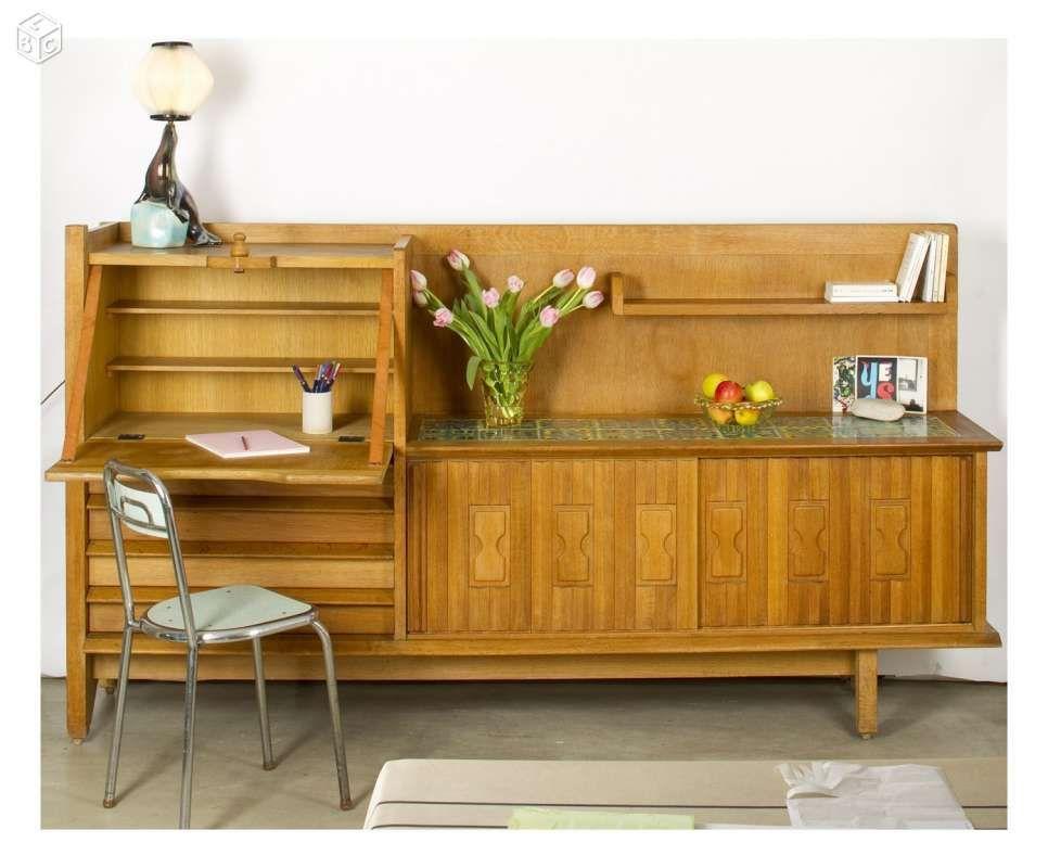 Enfilade bureau Guillerme Chambron vintage Ameublement Seine-Saint